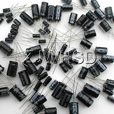 (1uF~2200uF) 25 value 125pcs Electrolytic Capacitors Assortment Kit Assorted Set