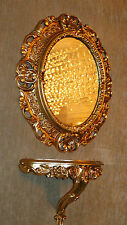 Wall Mirror Gold Oval with Bracket Antique 45x38 Frame Bathroom