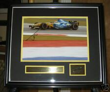 SIGNED  FRAMED  ALONSO PICTURE  F1 WORLD CHAMPION 2OO5