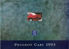 Peugeot 1992-93 UK Market Smaller Format Sales Brochure 106 205 309 405 605