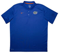 NIKE Florida Gators Short Sleeve Polo Shirt Blue XXL 2XL