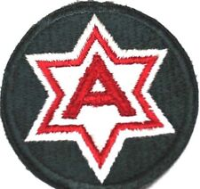 US army 6TH army full color patch red and white on army green each R1823