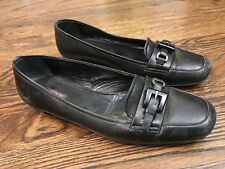 Prada Black Leather Shoes Flats Women's Size 36.5 (6.5 US)