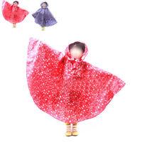 Children Boy Girl Kids Raincoat Rain Coat Rainwear Rain Suit Poncho Cape Hooded