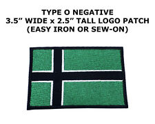 Type O Negative Band Vinland Flag Patch DIY Embroidered Metal Sew Iron On Music