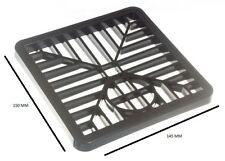 Gulley Grid Drain Cover Lid Black Pvc 6 Inch 150mm Square Pack Of 10