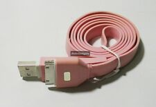 Flat USB Charge Sync Cable For Apple iPhone 3G/S 4/4S iPad iPod Touch Nano(Pink)