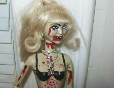 MILEY CYRUS ZOMBIE DOLL Halloween Hannah Montana repaint Talking dead Horror Art
