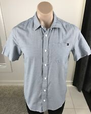ONEILL Shirt Mens Short Sleeve Button Up Blue Casual Shirt Size Small