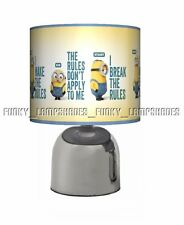 THE MINIONS MOVIE DESPICABLE ME ☆ BEDSIDE TOUCH LAMP ☆ BOYS GIRLS NIGHT LIGHT ☆