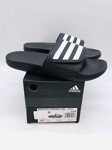 adidas Unisex Men's / Women's Adilette Adjustable Slides Sandals - Black