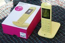Telekom Speedphone 11 Telefon Mobilteil mit Basis Freisprechfunktion gelb
