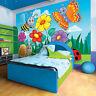 VLIES Fototapeten Fototapete Tapete Kinder Schmetterling Wiese Blume 3FX11413VE