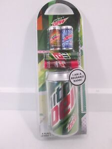 Mountain Dew Flavored Lip Balm Set With Reusable Bank Collectible NEW SEALED