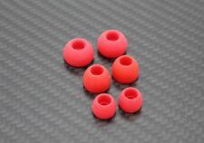 STP Rot  6 x Aufsatz In-Ear Gummi Silikon Ohrpolster Ersatz Große M,S,L