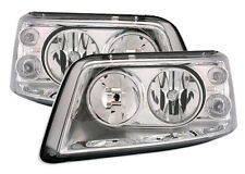 Chrome clear finish Headlights set front lights for VW T5 MULTIVAN BUS