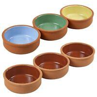 3 PCS Traditional Spanish Ceramic Tapas Olive Serving Dishes Bowls Cazuelas Set