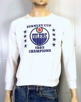 vtg 80s 1985 Edmonton Oilers NHL Stanley Cup Sweatshirt Wayne Gretzky Kurri sz M