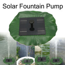 Solar Powered Fountain Water Pump Floating Lotus Leaf Panel Feature Garden Pond