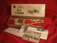 Hudson Miniatures Old Timers 1911 Mercer Car Auto Wood Model Kit 1949 Paperwork