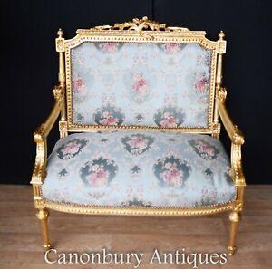 Gilt Love Seat - French Empire Sofa