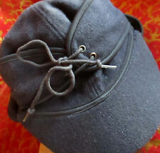 vtg winter wool CAP Hat plaid ear flap band logger lumberjack sz SMALL 6.5