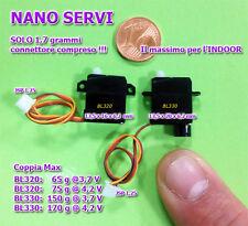 Nano Servo Digitale BL320-A2 1,7 grammi Indoor + Squadrette Aereo Aliante