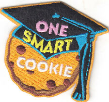 """""""ONE SMART COOKIE"""" PATCH - SCHOOL - DESSERT - IRON ON EMBROIDERED APPLIQUE"""