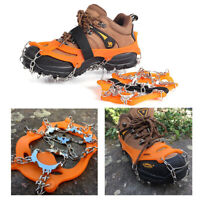 19-Teeth Point Anti Slip Ice Snow Shoes Spike Grip Boots Crampons Grippers New