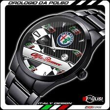 Orologio Alfa Romeo da polso Racing watch carbon tuning sportivo nero lucido GTA