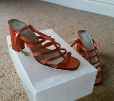 SIZE 38E/39C Carvela orange high heel shoes stunning character with little use.