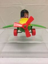Vintage Amloid Toy Corp. Plastic Toy Push And Go Plane
