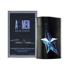 Angel A Men by Thierry Mugler 1.7 oz EDT Refillable Rubber Flask Spray MEN NIB