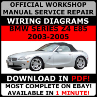 # OFFICIAL WORKSHOP Repair MANUAL for BMW SERIES Z4 E85 2003-2005 WIRING #