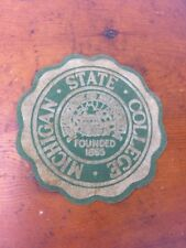 Rare Michigan State College Velvet Flocking Patch Pre-1964 University MSU MSC