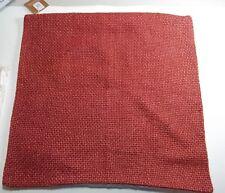 "Pottery Barn Faye Textured Linen Pillow Cover Sumac 20"" #560"