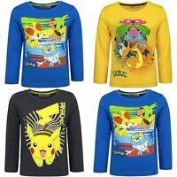 Disney Boys POKEMON Characters Cotton Long Sleeves T.Shirt Top 4 6 8 10 12 YEARS
