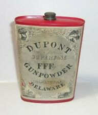 Old Dupont Fffg Empty Gunpowder Tin Only Wilmington Delaware T*