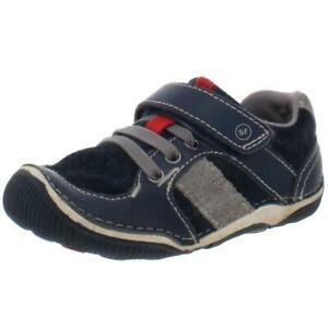 Stride Rite Boys Wes Navy Suede Sneakers Shoes 8 Medium (D) Toddler BHFO 9989