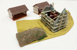 IN Set Houses And Building 3 Piece, S1 Faller N Gauge