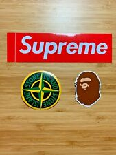 Supreme / BAPE / Stone Island Stickers Box Logo BOGO Bathing Ape Decal Hypebeast