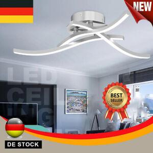 21W LED Design Deckenleuchte Wohnzimmer Küche Bad Modern Deckenlampe Aluoptik