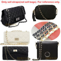 REAL LEATHER CHAIN STRAP PURSE SHOULDER CROSSBODY REPLACEMENT BAG HANDBAG