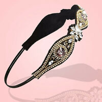 EB_ Women Girl Rhinestone Beads Headband Elastic Hairband Wedding Hair Accessary