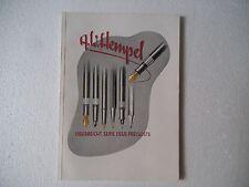 ------ A W HEMPEL ---- 50's BROCHURE  CATALOGS  PROSPEKT  KATALOG--------