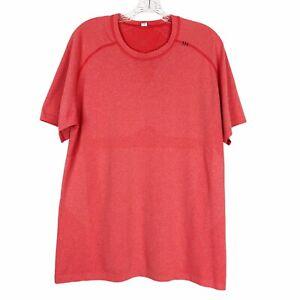 Lululemon Shirt Mens L Metal Vent Tech Pink Short Sleeve Crew Neck Workout Tee