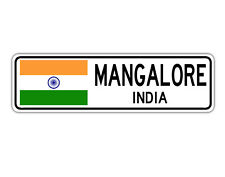 Mangalore, India Street Sign Indian Flag City Country Road Wall Gift