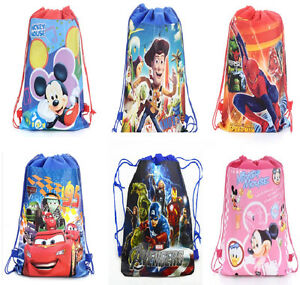Kids Boy Girls Children Drawstring Gym Swimming Beach PE School Party Bag +Charm