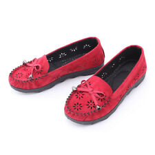 3c4d94fc2 Women Work Leather Slip on Comfort Shoes Moccasin Oxfords Loafers Flat  Shoes  8 7