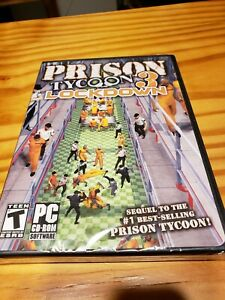 new PRISON TYCOON 3: LOCKDOWN. PC CD-rom 2007 SHIPS FREE sealed